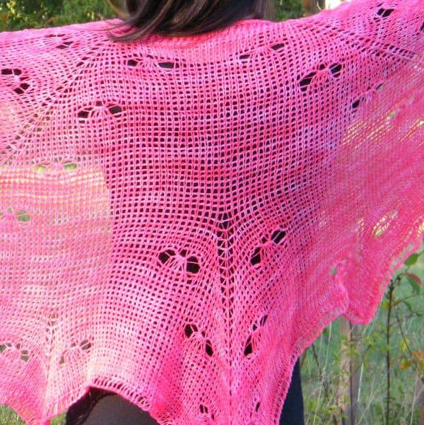 Mariposa Lace Shawl CrochetKim Free Tunisian Crochet Pattern
