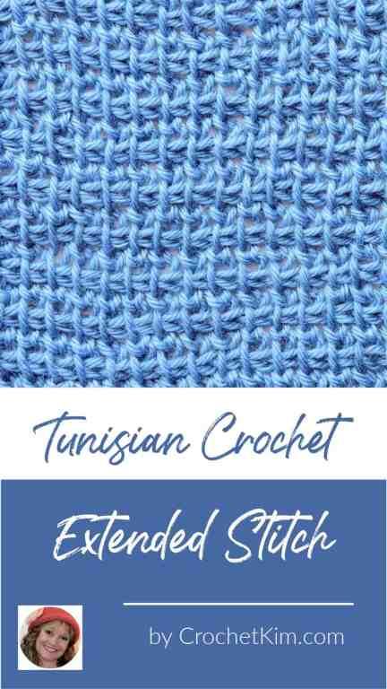 Tunisian Extended Stitch in TSS CrochetKim Crochet Stitch Tutorial