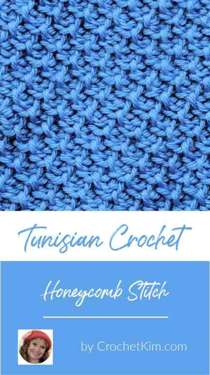 Tunisian Honeycomb Stitch CrochetKim Crochet Stitch Tutorial