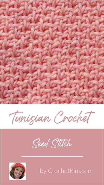 Tunisian Seed Stitch CrochetKim Crochet Stitch Tutorial