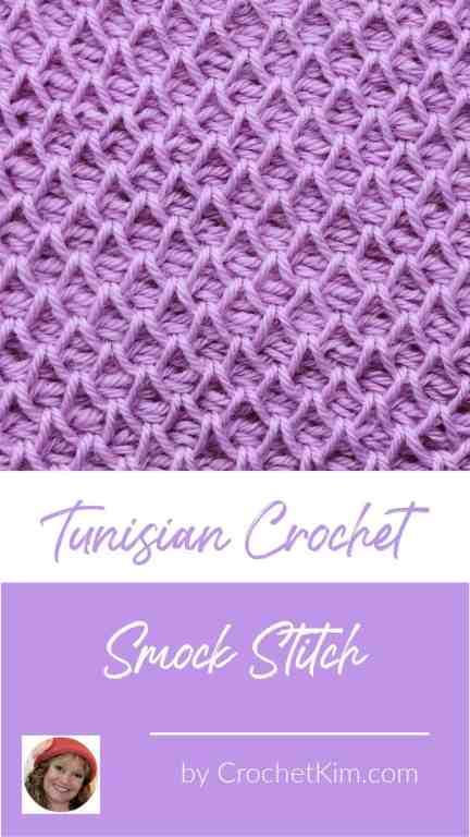 Tunisian Smock Stitch CrochetKim Crochet Stitch Pattern