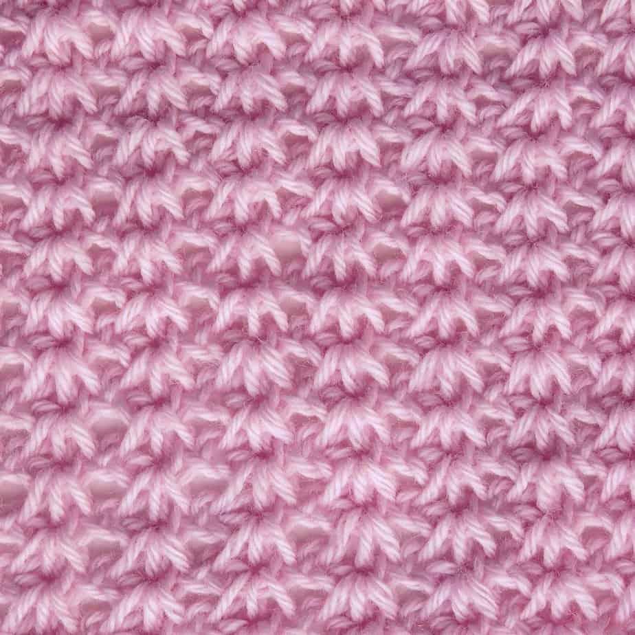 Tunisian Tiny Clusters CrochetKim Crochet Stitch Tutorial