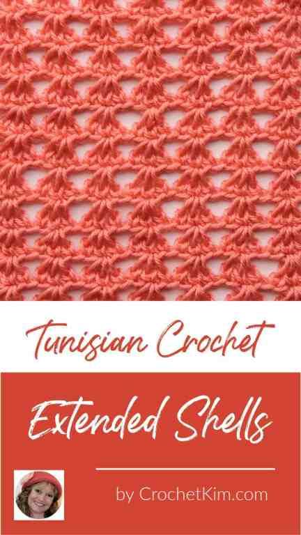 Tunisian Extended Shells CrochetKim Crochet Stitch Tutorial