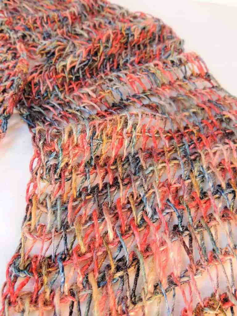 Drop Stitch Scarf CrochetKim Free Tunisian Crochet Pattern