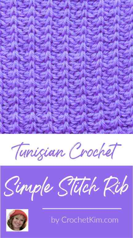 Tunisian Simple Stitch Rib CrochetKim Crochet Stitch Tutorial