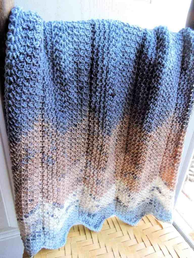 Modern Honeycomb Ripple  Baby Blanket CrochetKim Free Tunisian Crochet Pattern