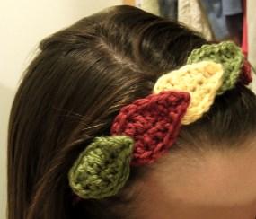 Crocheted Fal Leafl headband