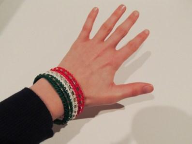 Crochet Christmas Bangle