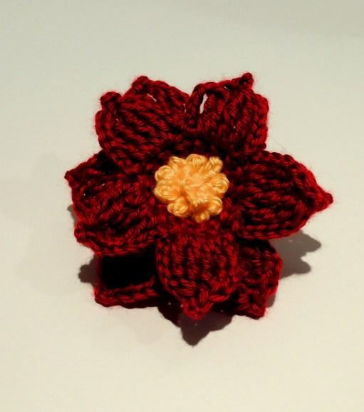 Crocheted Poinsettia