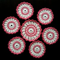 Sweet Crochet Coaster Set