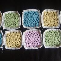 My First Crochet Blanket - Granny Wheel Square Blanket