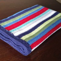 Stripey Blue Baby Blanket