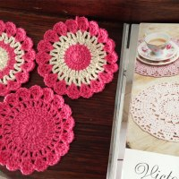 Book Inspired Crochet Coasters