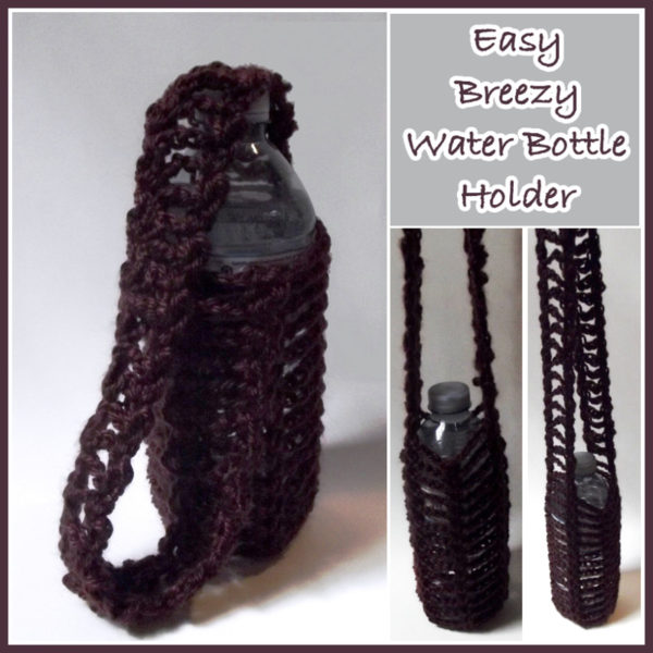 Easy Breezy Water Bottle Holder Free Crochet Pattern