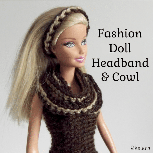 Simple Striped Headband and Cowl for the Fashion Doll - CrochetN\'Crafts