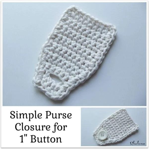 Simple Purse Closure ~ FREE Crochet Pattern