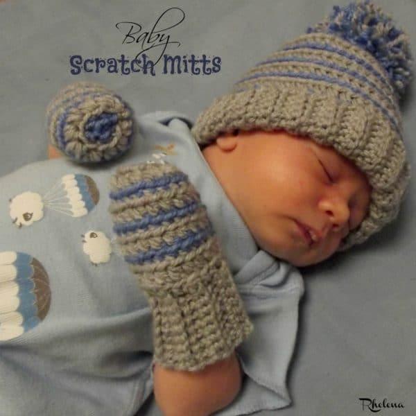Crochet Baby Scratch Mitts ~ FREE Crochet Pattern