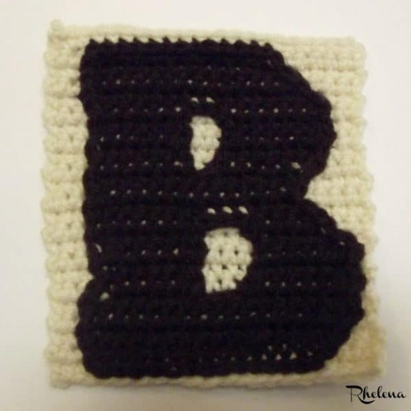B Uppercase Tapestry Crochet Block Crochetncrafts