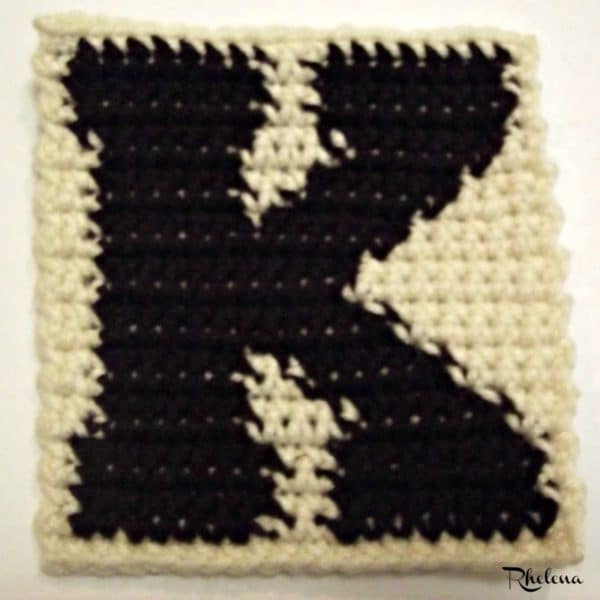 K-Uppercase Tapestry Block ~ FREE Crochet Pattern