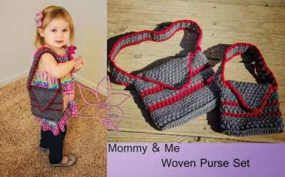 Mommy and Me Woven Purse Set by MNE Crafts