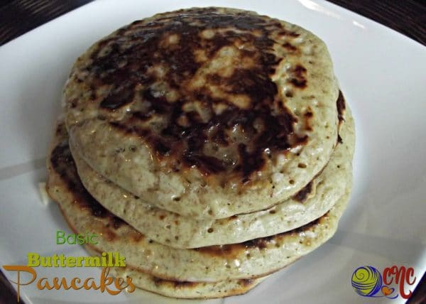 Recipe for basic buttermilk pancakes.
