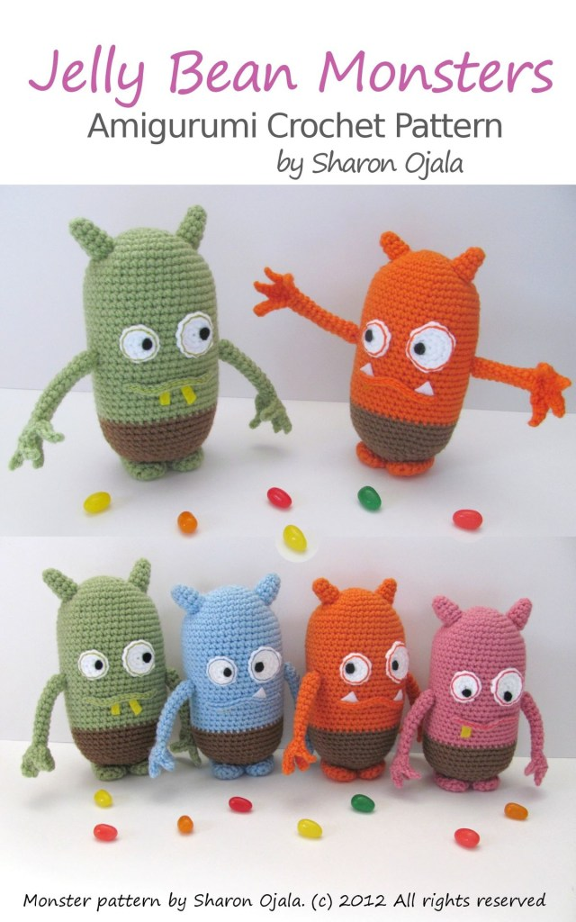 Amigurumi Crochet Patterns Jelly Bean Monsters Amigurumi Crochet Pattern Ebook Sharon Ojala