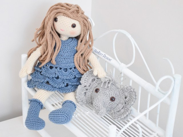 Amigurumi Crochet Patterns Josefina Doll And Jeffery Elephant Pillow Pdf Crochet Pattern