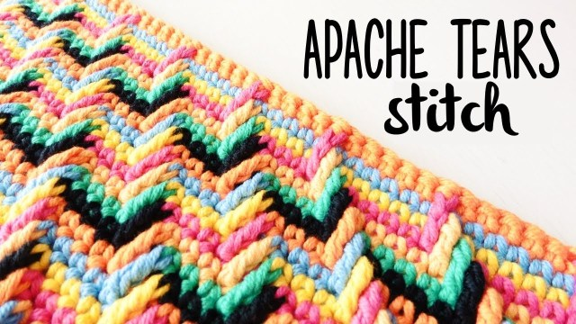 Apache Tears Crochet Pattern How To Crochet Apache Tears Stitch Crochet Lovers Youtube
