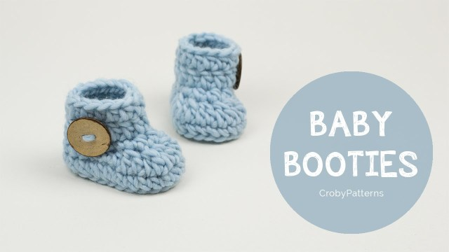 Baby Bootie Crochet Pattern How To Crochet Fast And Easy Crochet Ba Booties Cro Patterns