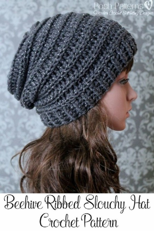 Beanie Pattern Crochet Crochet Slouchy Hat Pattern 15 Easy And Free Crochet Patterns To