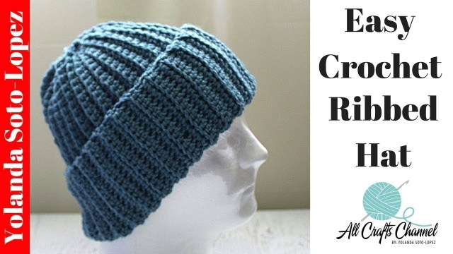 Beanie Pattern Crochet Easy Crochet Ribbed Hat Beginner Crochet Youtube