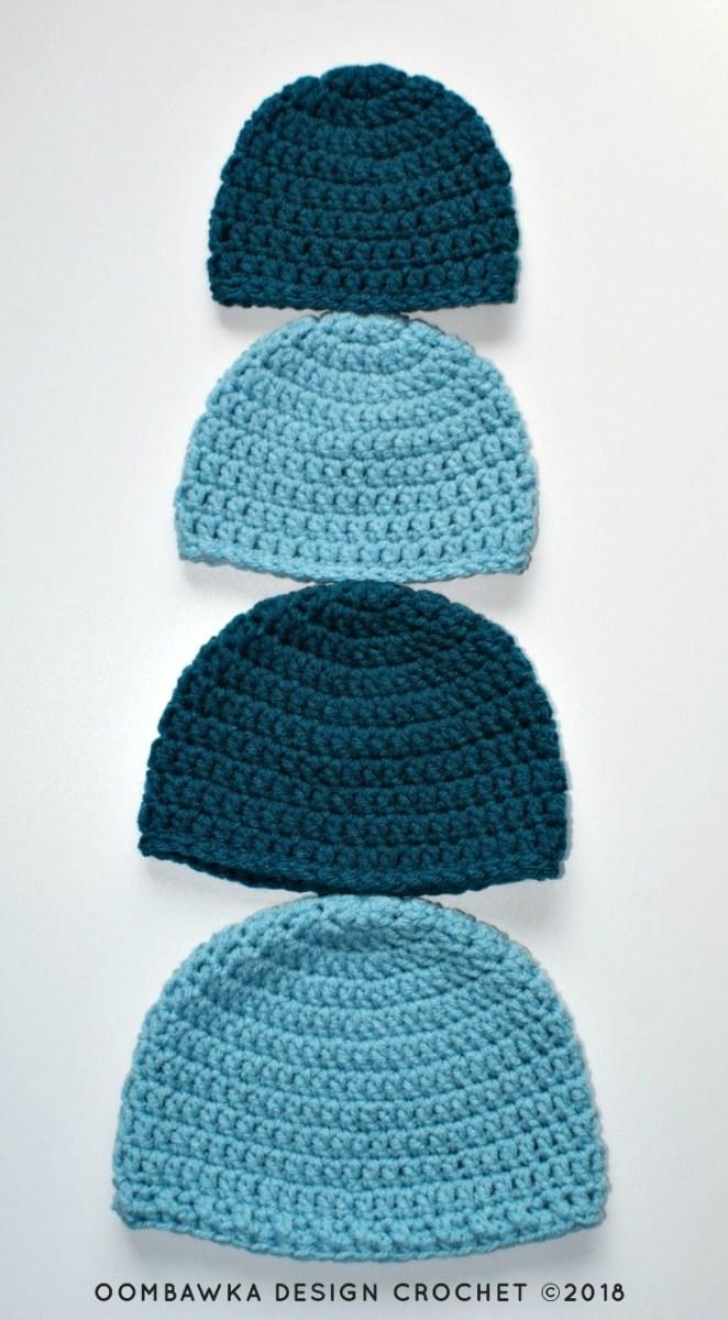 Beanie Pattern Crochet Simple Double Crochet Hat Pattern Oombawka Design Crochet