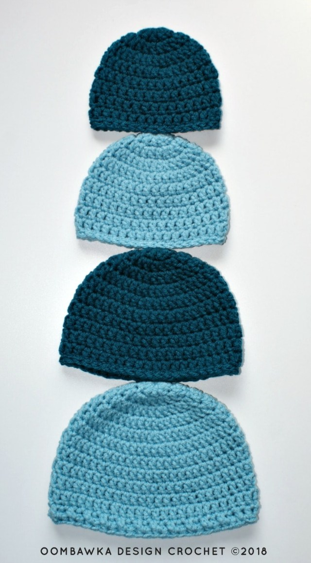 Beanie Pattern Crochet Simple Double Crochet Hat Pattern Oombawka Design Crochet