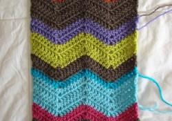 Chevron Crochet Scarf Pattern Crochet In Color Chevron Scarf Pattern