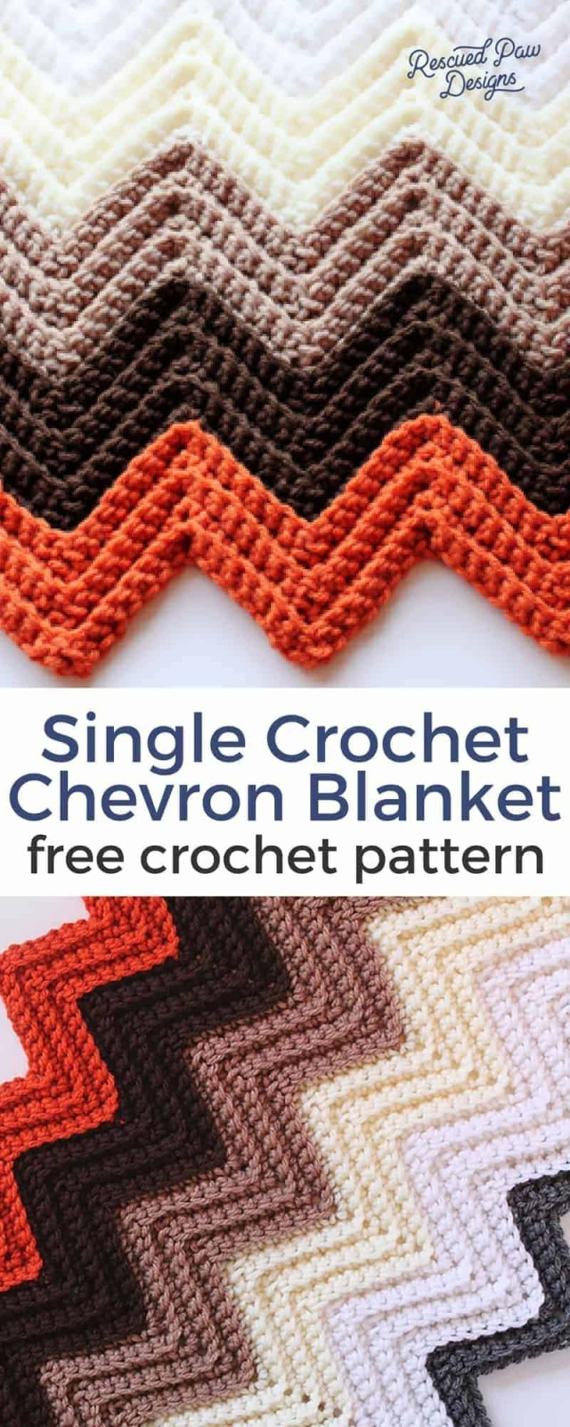 Chevron Zig Zag Crochet Pattern Chevron Crochet Blanket Pattern Rescued Paw Designs