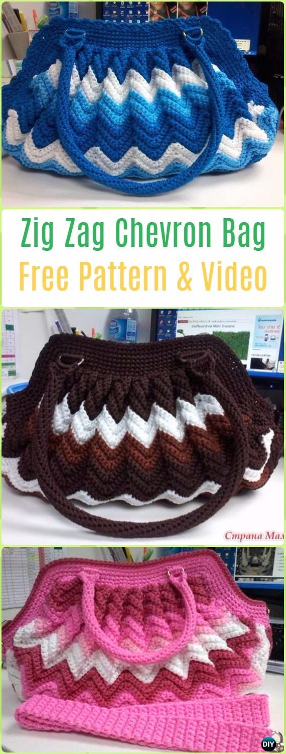 Chevron Zig Zag Crochet Pattern Crochet Handbag Free Patterns Instructions