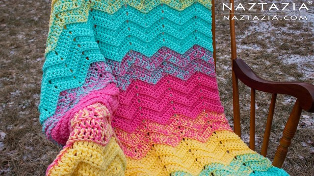 Chevron Zig Zag Crochet Pattern Diy Tutorial How To Crochet Double Sweet Ripple Ba Blanket