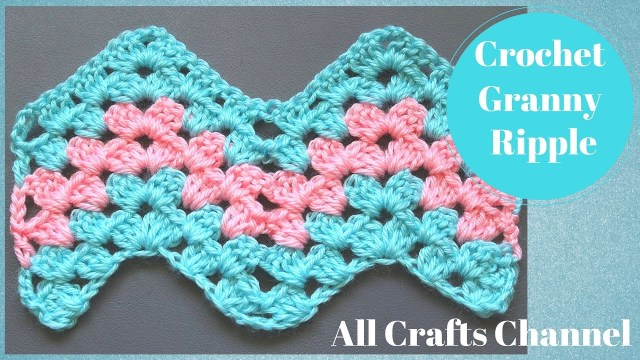 Chevron Zig Zag Crochet Pattern How To Crochet Granny Ripple Pattern Youtube