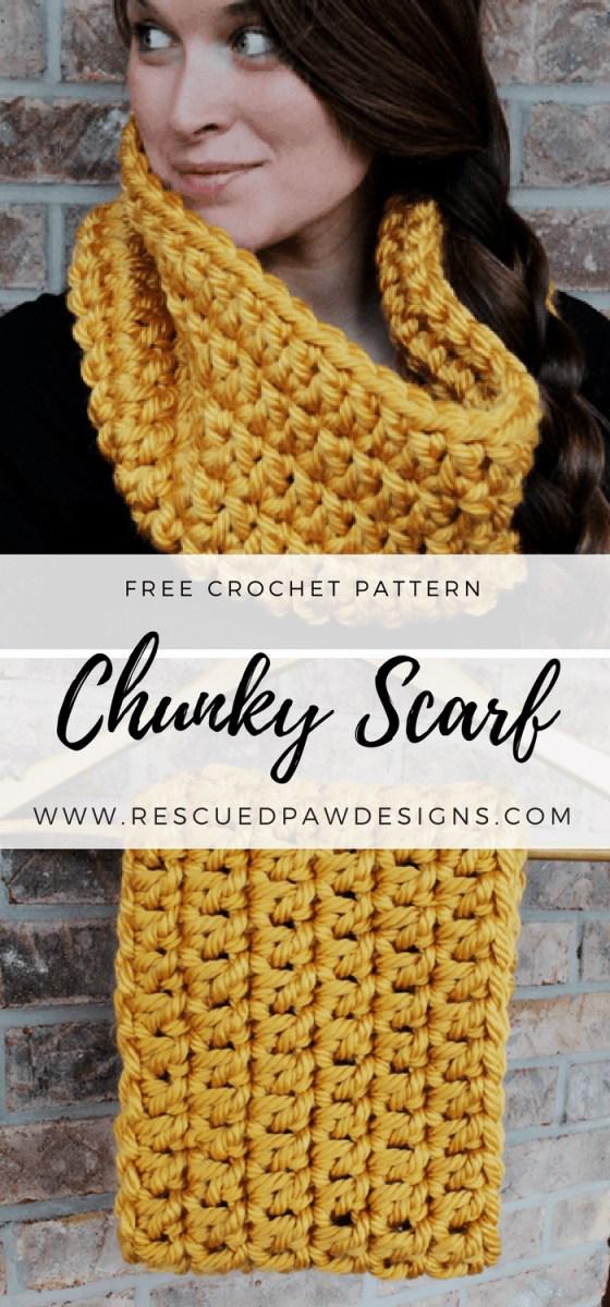 Chunky Crochet Scarf Pattern Crochet Chunky Infinity Scarf Rescued Paw Designs Crochet