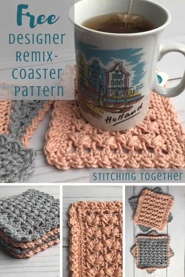 Coaster Crochet Pattern Square Crochet Coasters One Cup At A Time Designer Remix Crochet