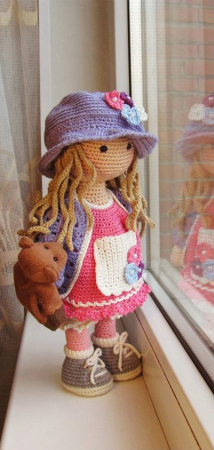 Amigurumi Blue Dress Doll Free Pattern | Crochet doll clothes free ... | 1510x720