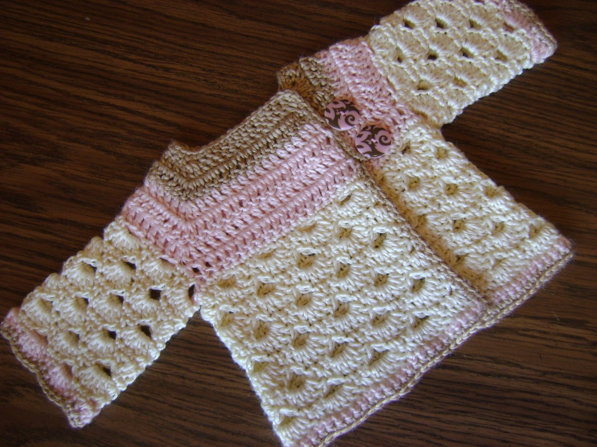 Crochet Baby Sweater Patterns Auntie Ms Abigails Ba Sweater Has A New Home