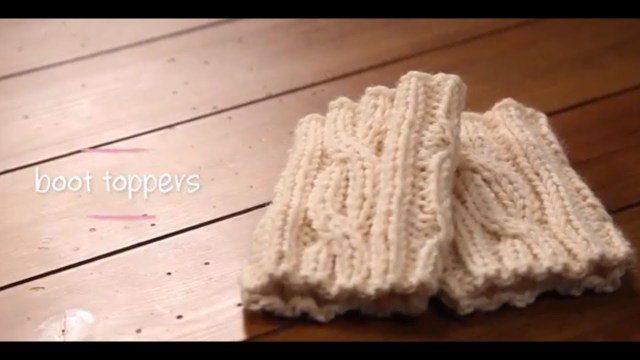 Crochet Boot Cuff Patterns Knit Boot Cuffs With Pattern 1 Hour Project Knitting Tutorial With