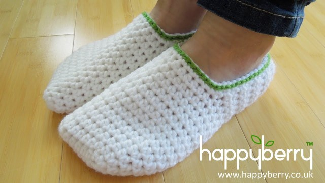 Crochet Boots Pattern For Adults Crochet How To Crochet Simple Adult Slippers For Men Or Women