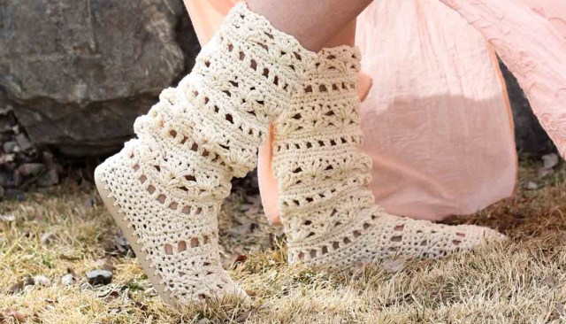 Crochet Boots Pattern For Adults Lacy Crochet Boots Pattern For Adults Made With Flip Flops