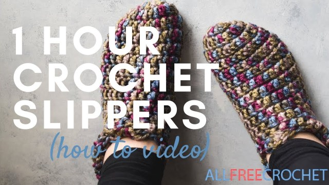 Crochet Boots Pattern For Adults One Hour Crochet Slippers Instructions Youtube