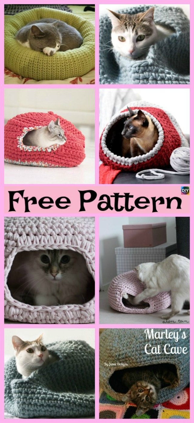 Crochet Cat Bed Pattern Free 10 Awesome Crochet Cat Bed Free Patterns Cats And Kittens And