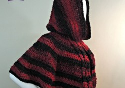 Crochet Cloak With Hood Pattern Hooded Cabled Cape Jessie At Home