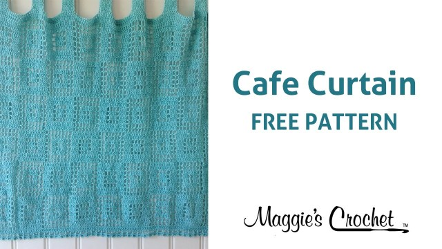Crochet Curtain Patterns Cafe Curtain Free Crochet Pattern Right Handed Youtube