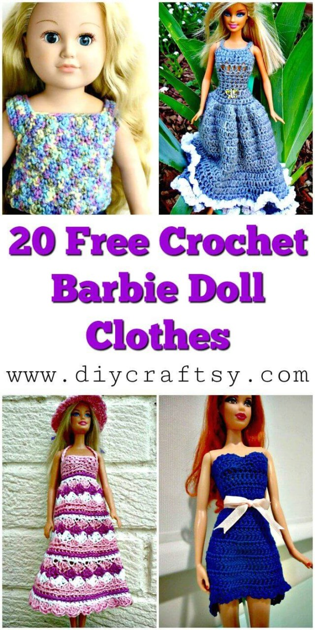 Crochet Doll Clothes Patterns 20 Free Crochet Barbie Clothes Pattern Diy Crafts